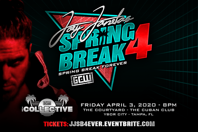 Wrestlemania Weekend 2020, Wrestlemania Weekend shows, The Collective 2020 Tampa, Joey Janela, JJSB4